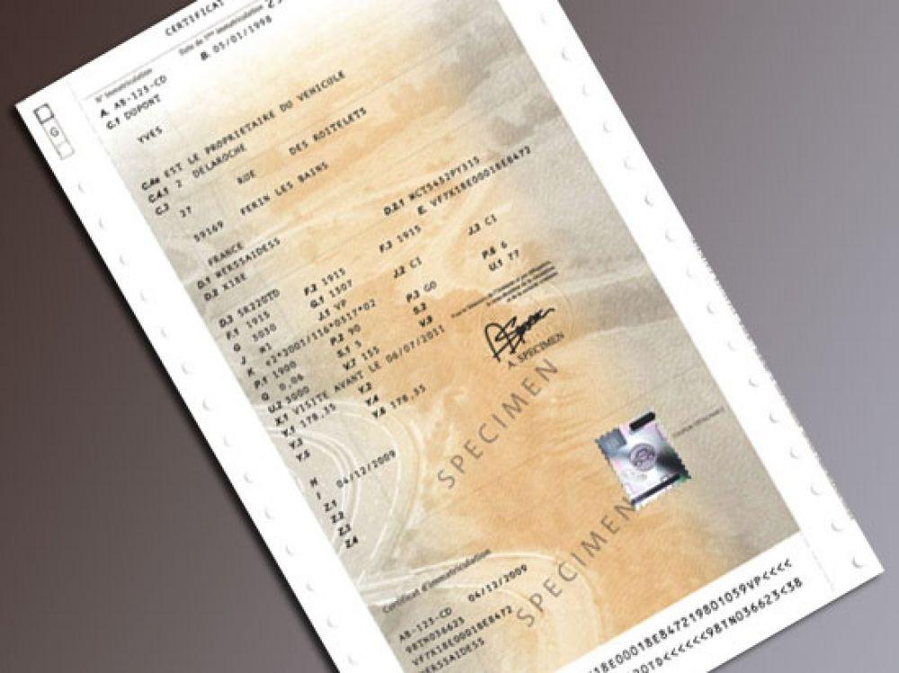 Les Documents A Fournir Pour Faire Faire Une Carte Grise